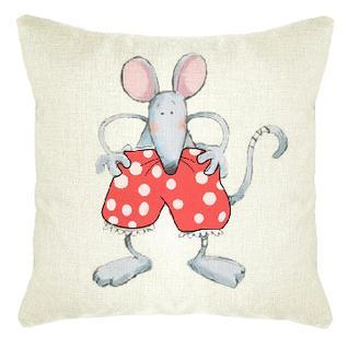 Подушка декоративная 45х45 Мышь Трусарди