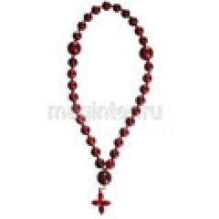 Четки православные из яшмы красной, 10 мм