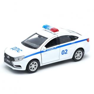 Модель машины Lada Vesta - Полиция ДПС, 1:34-39 Welly
