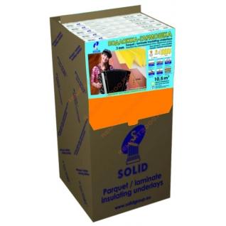 СОЛИД подложка XPS гармошка 3мм (упак. 10,5 кв.м.) / SOLID подложка XPS гармошка под ламинат 3мм 1,05х10м (упак.10,5 кв.м.) Солид