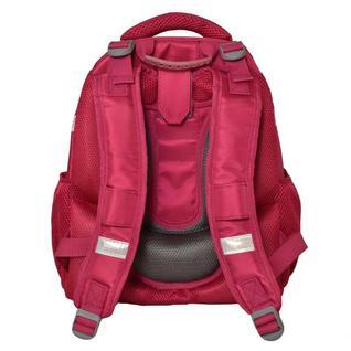 Ранец №1School Sparkle Pink,ортопед. cпинка, двустор.пайетки фуксия/серебро