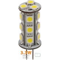 Светодиодная лампочка G4-18X5050ES-240Lm, 220V 3,3W-6000K  лампа светодиодная.