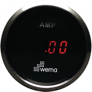 Wema Амперметр с красным светодиодным дисплеем Wema AMP-KIT-BS 12/24 В 52 мм