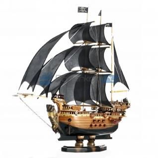 """Макет корабля """"Черный Зевс"""" с шелковыми парусами, 100 см"""
