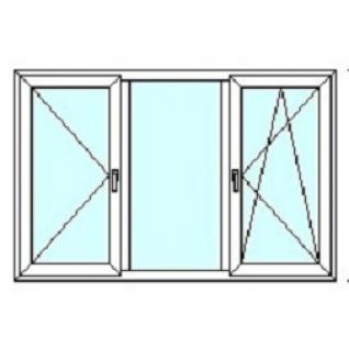 TEPLOWIN Трехстворчатое окно Тепловин Эстетик 500 с двумя створками