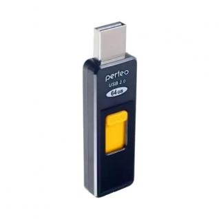 Perfeo Perfeo USB Drive 64GB S02 Black PF-S02B064