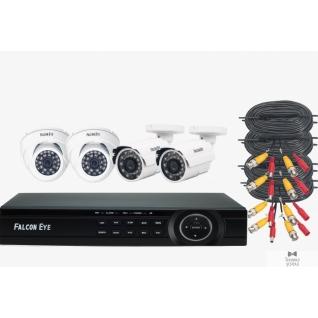 Falcon Eye Falcon Eye FE-104MHD KIT Офис Комплект видеонаблюдения. Гибридный регистратор с поддержкой AHD/TVI/CVI/IP/Аналог. Алгоритм сжатия H.264,Запись 1080N/100 кад./сек, 4 BNC входа