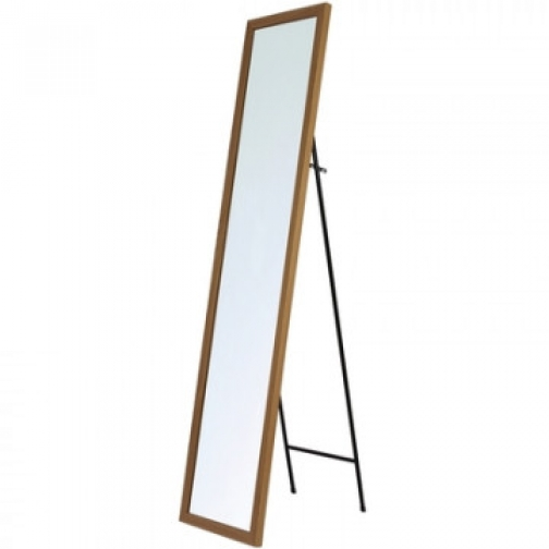 Зеркало МИР_в раме МДФ 354x24x1554 / 300x1500 (3400421.10) светлоедерево 37858685 2