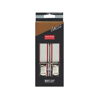 Подтяжки PRYM Classic XL 30 125 серебристо-серый,бордовые полосы по краям