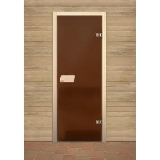 Дверь для сауны NARVIA, матовая бронза 7х19