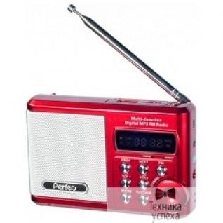 Perfeo Perfeo мини-аудио Sound Ranger, FM MP3 USB microSD In/Out ридер, BL-5C 1000mAh красный (PF-SV922RED)