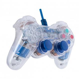Джойстик Геймпад OXION OGP02BL, plug and play. USB 2.0. Режим вибрации, LED- подсветка. Проводной, длина шнура: 1.5 м.
