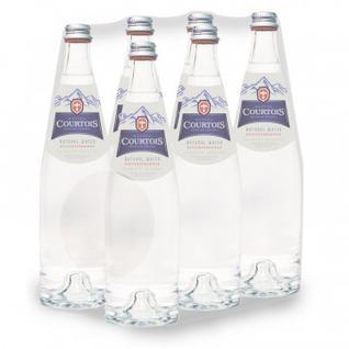 Вода питьевая Courtois 0,75л. негаз., стекл. бут. 6 шт/уп