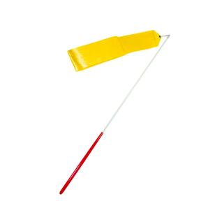 Лента для художественной гимнастики Amely Agr-201 4м, с палочкой 46 см, желтый