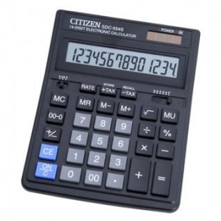 Калькулятор настольный ПОЛНОРАЗМЕРНЫЙ CITIZEN бухг. SDC-554S 14 разр. DP