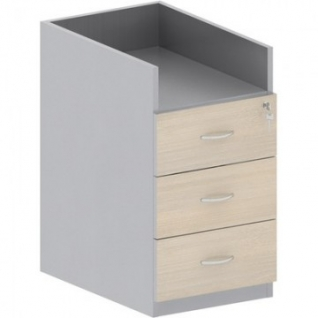 Мебель Easy St Тумба приставная 904010 св.дуб/сер. (440) 3 ящ.