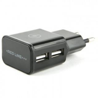 Зарядное устройство сетевое Red Line 2 USB (NT-2A), 2.1A черный