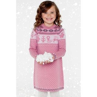 Merri Merini. Платье вязаное из 100% шерсти мериноса, размер 3-4 года.