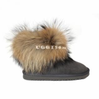 UGG Australia Mini Fox Fur Grey