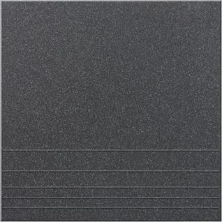 УГ 111 Ступень керамогранит матовый 300х300мм черный (15шт=1,35м2) / УГ 111 Ступени керамогранит неполированный 300х300х8мм черный (упак. 15шт.=1,35 кв.м.)