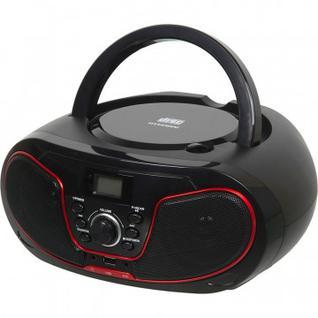 Магнитола Hyundai H-PCD180 черный/красный