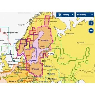 Карта Navionics+ Балтийское море, Калининград, Куршский залив (44XG)