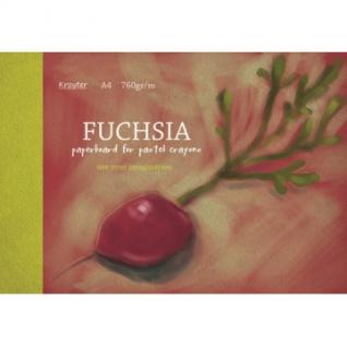 Альбом для рис. пастелью А4 10л, блок тонир. картон фуксия 760 гр/м, 7620