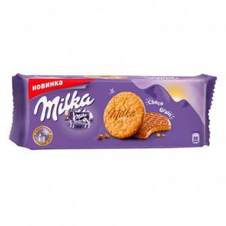 Печенье Milka с овс.хлоп., покр.мол.шок., 168г