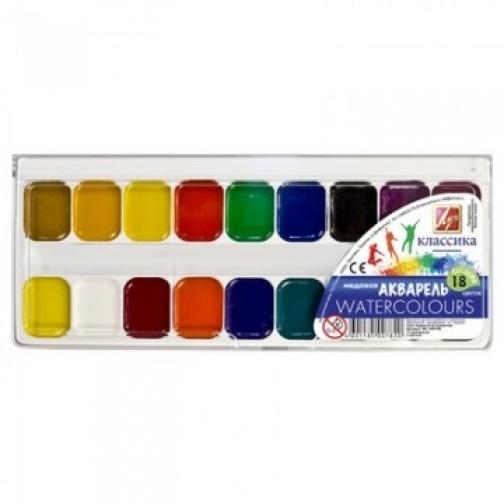 Краски акварельные Луч Классика 18цв б/кисти 19С 1292-08 37855849