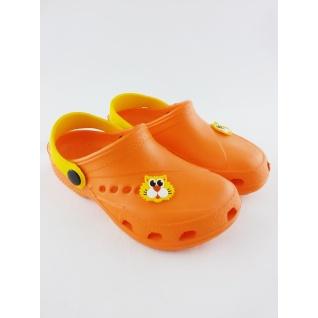 610-02 кроксы ораньжево/желтый дюна.27-34 (33) Дюна