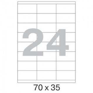 Этикетки самоклеящиеся Promega label 70х35 мм / 24 шт. на листе А4 (100 л.