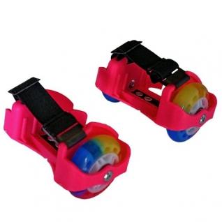 Двухколесные ролики (свет), розовые Moby Kids