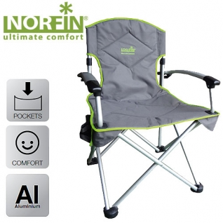 Кресло складное Norfin ORIVERSI NF алюминиевое SALMO