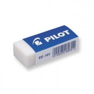 Ластик PILOT EE101 винил, карт.держатель, цв.белый, Япония, 42?19?12 мм.