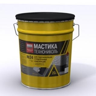 ТЕХНОНИКОЛЬ мастика битумная №24 МГТН (20кг) / ТЕХНОНИКОЛЬ мастика гидроизоляционная битумная №24 МГТН (20кг) Технониколь