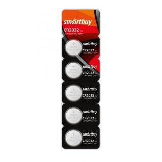 Литиевый элемент питания CR2032 Smartbuy