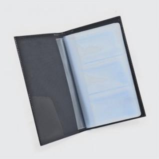 Визитница настольная на 120 визиток BEFLER V18SH,нат.кожа,черн.(с полукр.ка