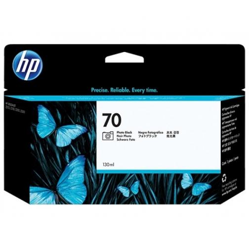 Оригинальный картридж C9449A №70 для принтеров HP Designjet Z2100/3100/3200/5200/5400, с фото чёрными чернилами, струйный, 130 мл 8717-01 Hewlett-Packard 850310