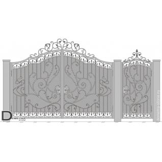 Кованые ворота калитка В-027 (кв.м)