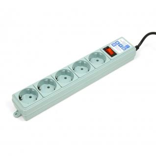 Фильтр-удлинитель Power Cube B 5,0 м 5 розеток (серый) 10А/2,2кВт