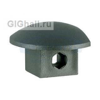 Торцевая заглушка черный пластик T-604L