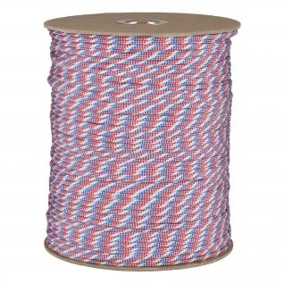 Made in Germany Паракорд, цвет сине-бело-красный, рулон 300 м
