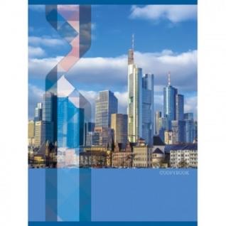 Тетрадь общая А4,80л,кл,скреп,обл.мел.карт Архитектура Мегаполиса Т4804356