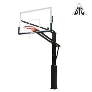 DFC Баскетбольная стационарная стойка DFC ING72GU 180x105см стекло 10мм (Пять коробов)., НОВИНКА