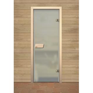 Дверь для сауны NARVIA, матовая бесцветная 7х19