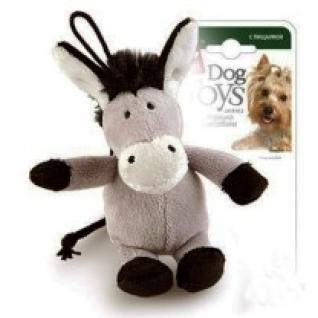 """Игрушка для собак """"Ослик"""" с пищалкой, 10 см GiGwi"""