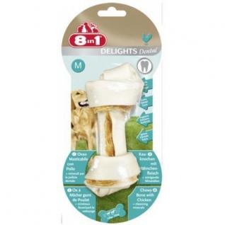 8in1 8in1 DENTAL DELIGHTS M косточка для чистки зубов 14,5 см