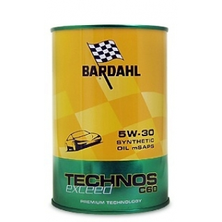 Масло моторное Bardahl Technos Exceed C60 5W-30 (PAO-100%)