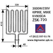 ТЭН Topclass Combi KV90SE(A) ZSK - 720