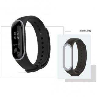 Ремешок для Xiaomi Mi Band 3 (чёрный с белым ободком)